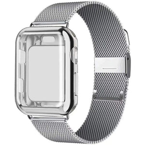 Milanese Loop Stainless Steel Apple Watch Band With Case