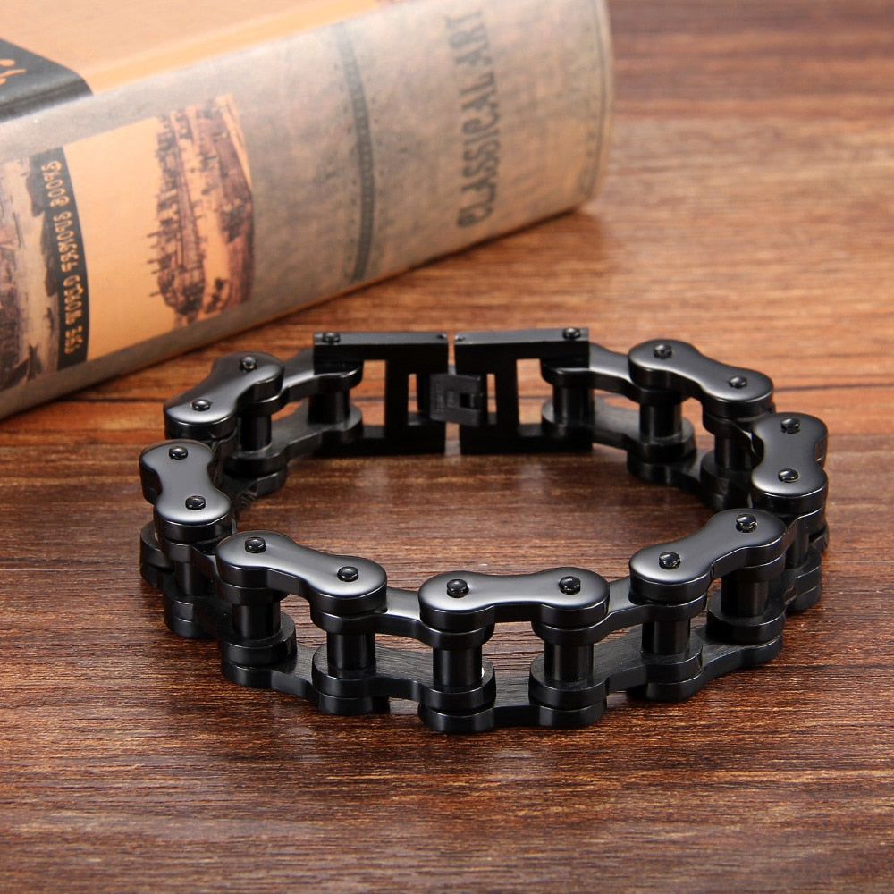 Heavy Motorcycle Link Chain Stainless Steel Bracelet