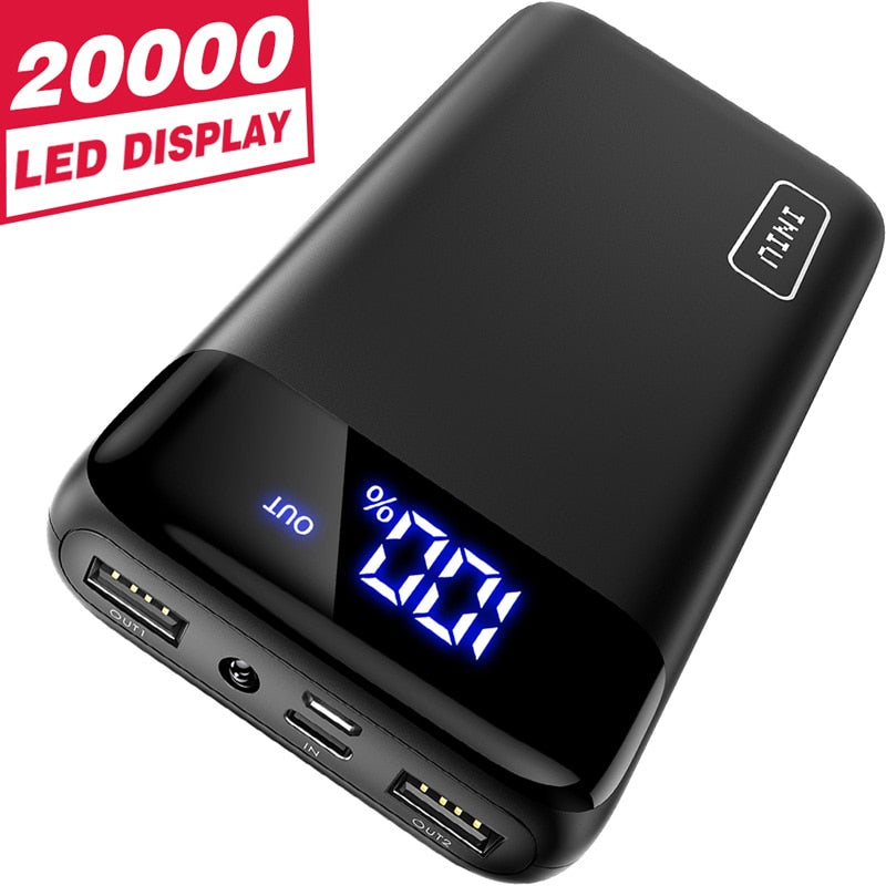 Power Bank 20000mAh LED USB C Portable Charger With Flash Light