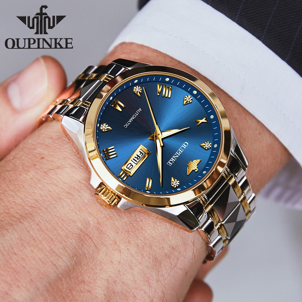 Men's Automatic Tungsten Steel Luxury Watch