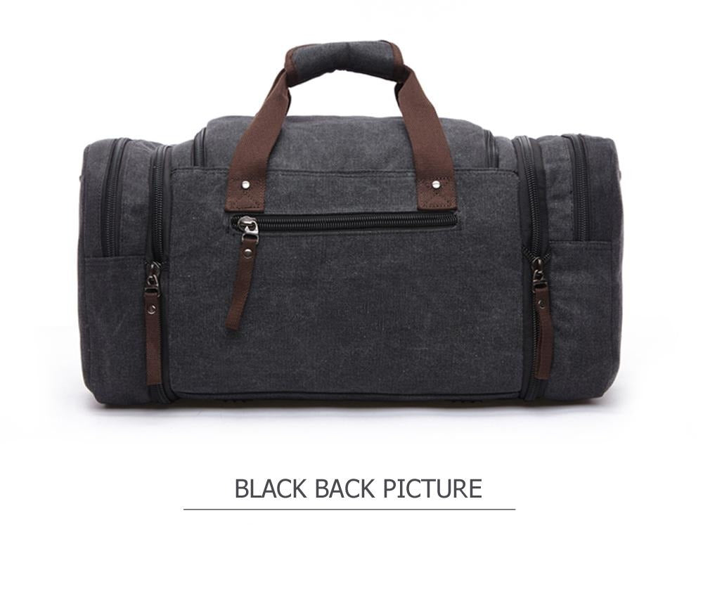 Men's Large Canvas Weekend Travel Bag