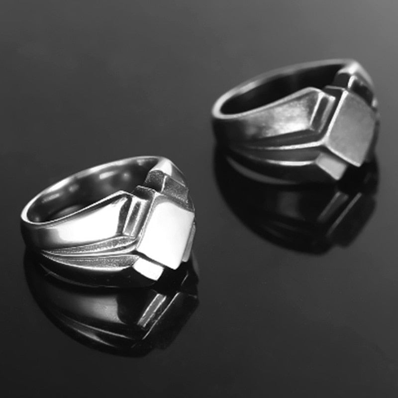 Men's Vintage Stainless Steel Nordic Ring