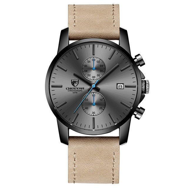 Men's Classic Design Leather Watch