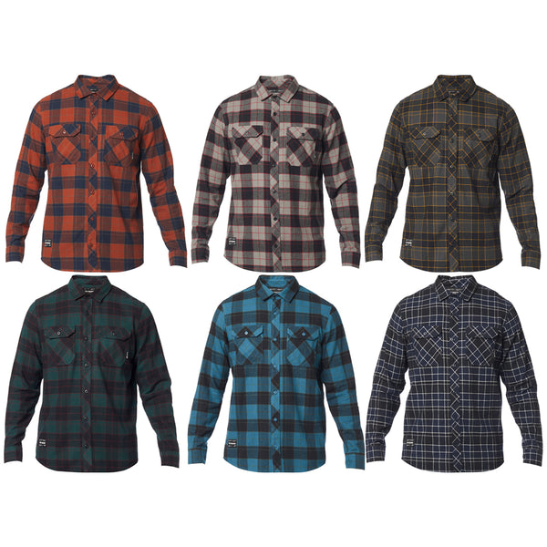 Fox Racing Traildust 2.0 Flannel Soft Classic Plaid Long Sleeve Layering Jacket