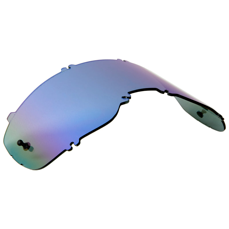 Fox Racing Airspace/Main II Injected Mirror Lens Blue One Size 25360-002-OS