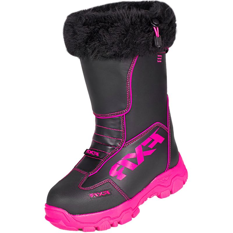 FXR -  Excursion Boot Authentic Insulated Fur Lining Toe Kick Snowmobile Snocross