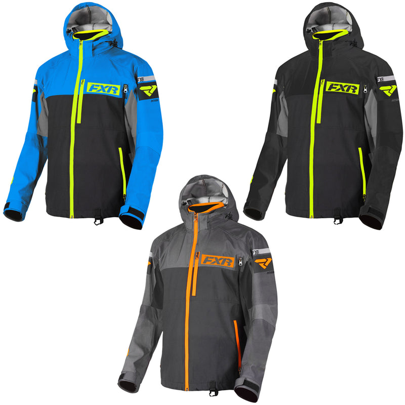 FXR -  Carbon Tri-Laminate Jacket Performance Fit Zippered Pockets Snowmobile Coat