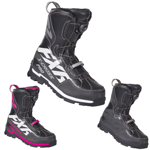 FXR X-Cross Pro BOA Boot Fixed Fur Lining High Traction Performance Snowmobile