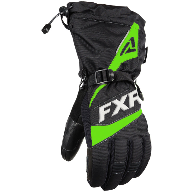 FXR Fuel Glove Black/Lime X-Small 200800-1070-04