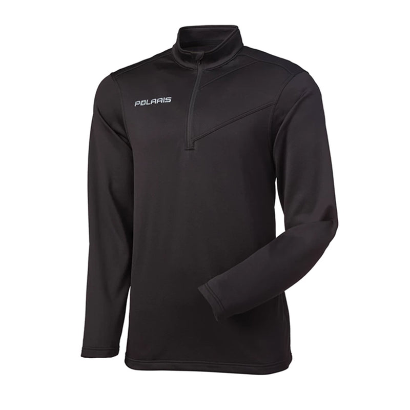 Polaris  Mens Long Sleeve Quarter-Zip Pullover Warm Fleece Lined Mid Base Layer
