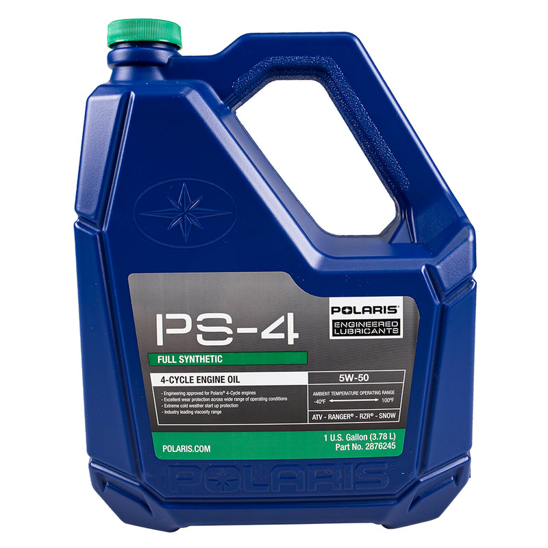 Polaris Genuine OEM 1 Gallon PS-5 Full Synthetic Oil 4-Cycle 5W-50 For ACE General Ranger RZR Sportsman 2876245 (4208737517649)