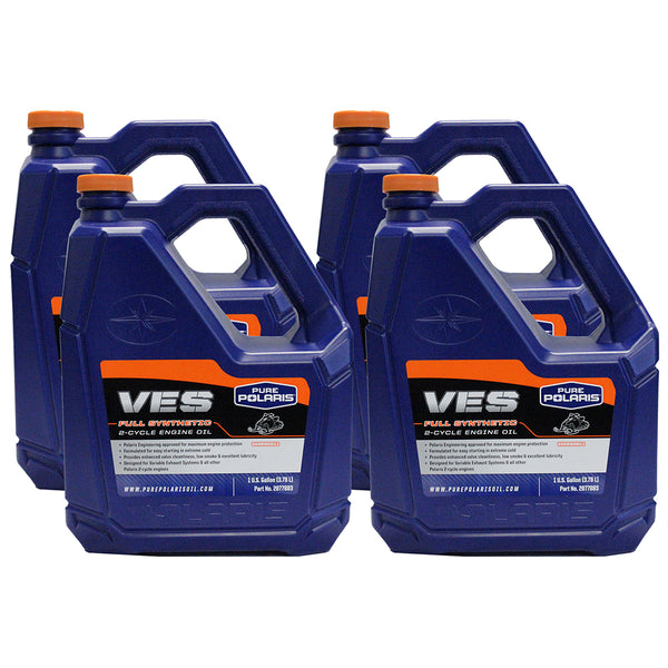 Polaris 2877883 Case of 4 Gallons VES Gold Synthetic 2 Cycle Oil Fusion 4-PACK (4408922406993)