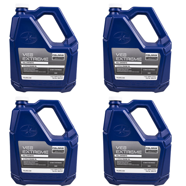Polaris 2883732 Case of 4 Gallons VES Race Synthetic 2-Stroke Engine Oil  4-PACK (4408923029585)