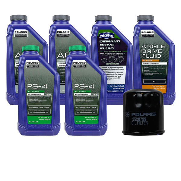 Polaris 2 Quarts PS-4 Oil & Fluid Change Kit 2008-2016 Sportsman XP 550 850 1000 (4408922046545)