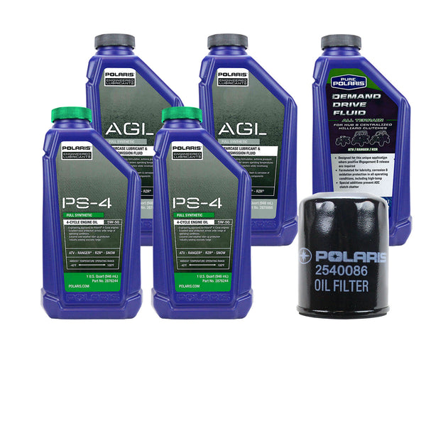 Polaris 2 Quarts PS-4 Synthetic Oil and 1 Quart Drive Fluid Change Kit (4408915558481)