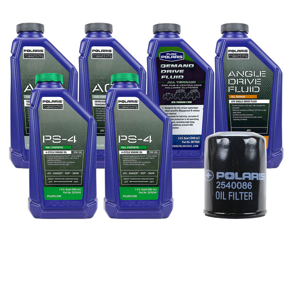 Polaris 2 Quarts PS-4 Oil and Fluid Change Kit 2008-2015 Ranger RZR 700 800 (4408921981009)