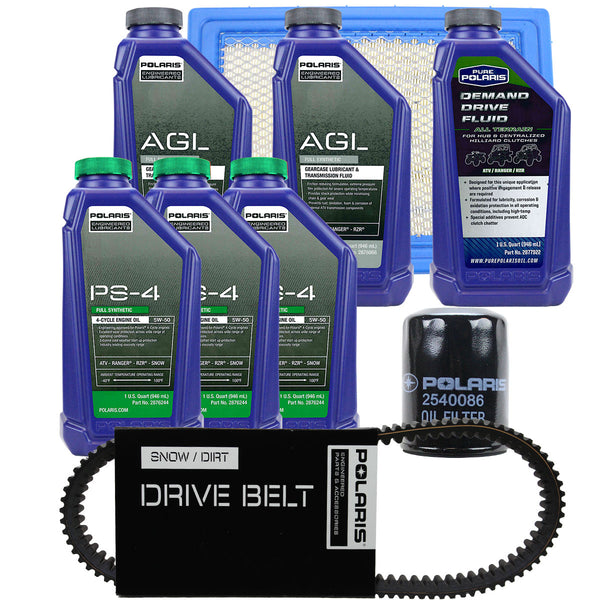 Polaris 3 Quarts PS-4 Oil and Fluid Change Kit with Air Filter and Drive Belt