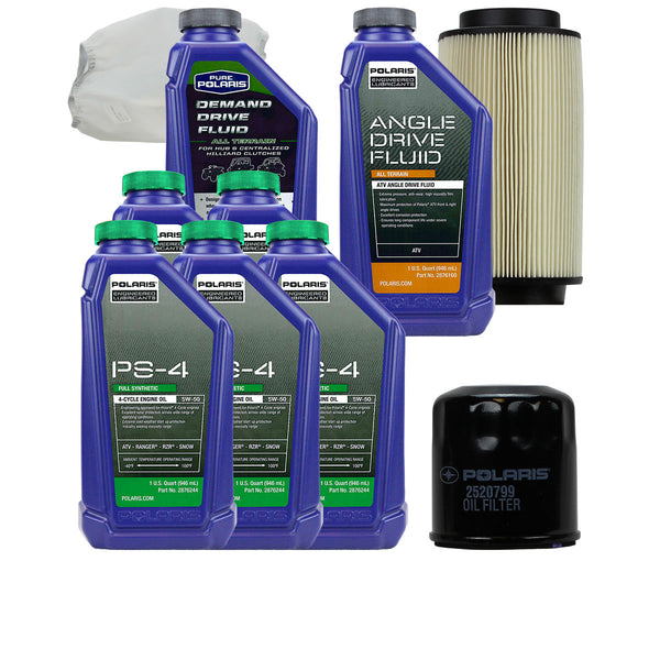 Polaris 5 Quarts PS-4 Oil and Fluid Change Kit with Air Filter (4408923095121)