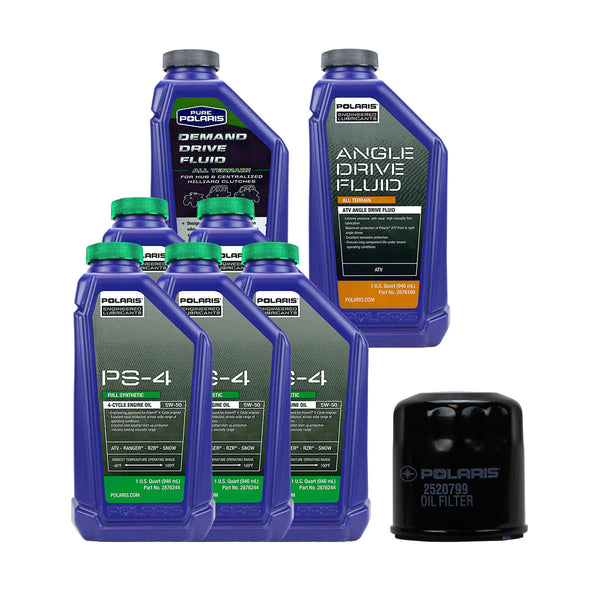 Polaris 5 Quarts PS-4 Oil and Fluid Change Kit (4408922013777)