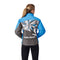 Polaris Youth Girls Print Diva Jacket Water Resistant 3M Scotchlite Reflective