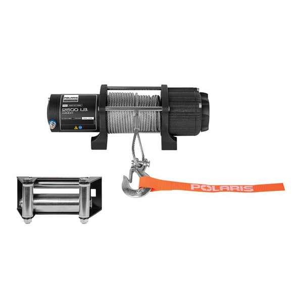 Polaris HD Integrated 2500lb Winch 2880432 2014-2020 Sportsman 450 H.O. 570 Touring SP X2 6x6 OEM (4355606773841)