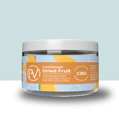 Cantaloupe Dried Fruit 250mg CBD
