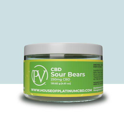 Sour Bear Gummies 250mg CBD