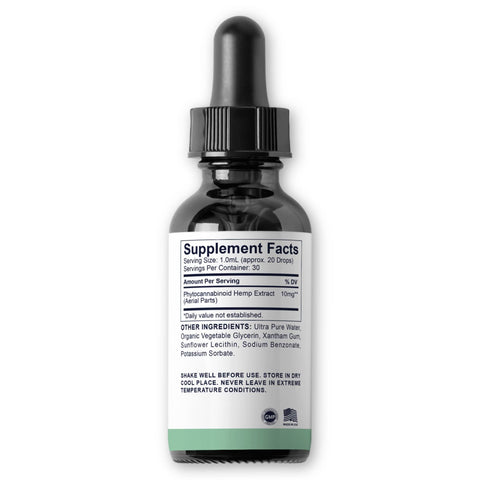 Nano CBD - Rapid Absorption, Rapid Onset <br><b>10mg/serving</b> - 300mg per 30mL
