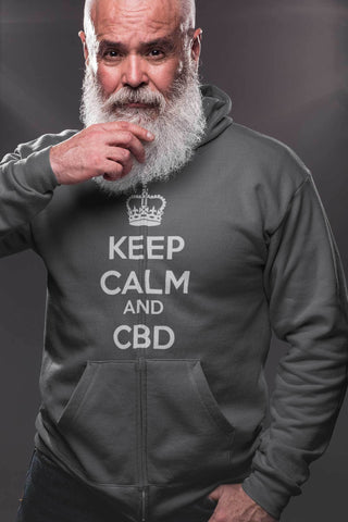 Keep Calm And CBD Full Zip Hoodie