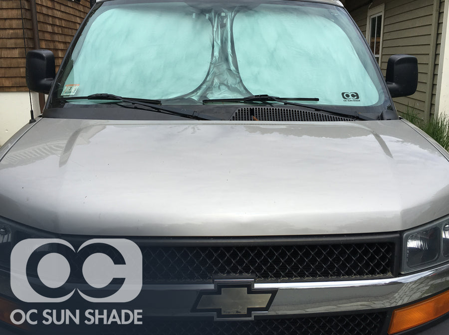 OC Sun Shade on Chevrolet Work Van