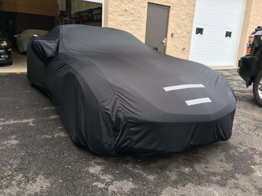 Black FS3502F5 Fleeced Satin Covercraft Custom Fit Car Cover for Select American Motors Concord//Eagle Models
