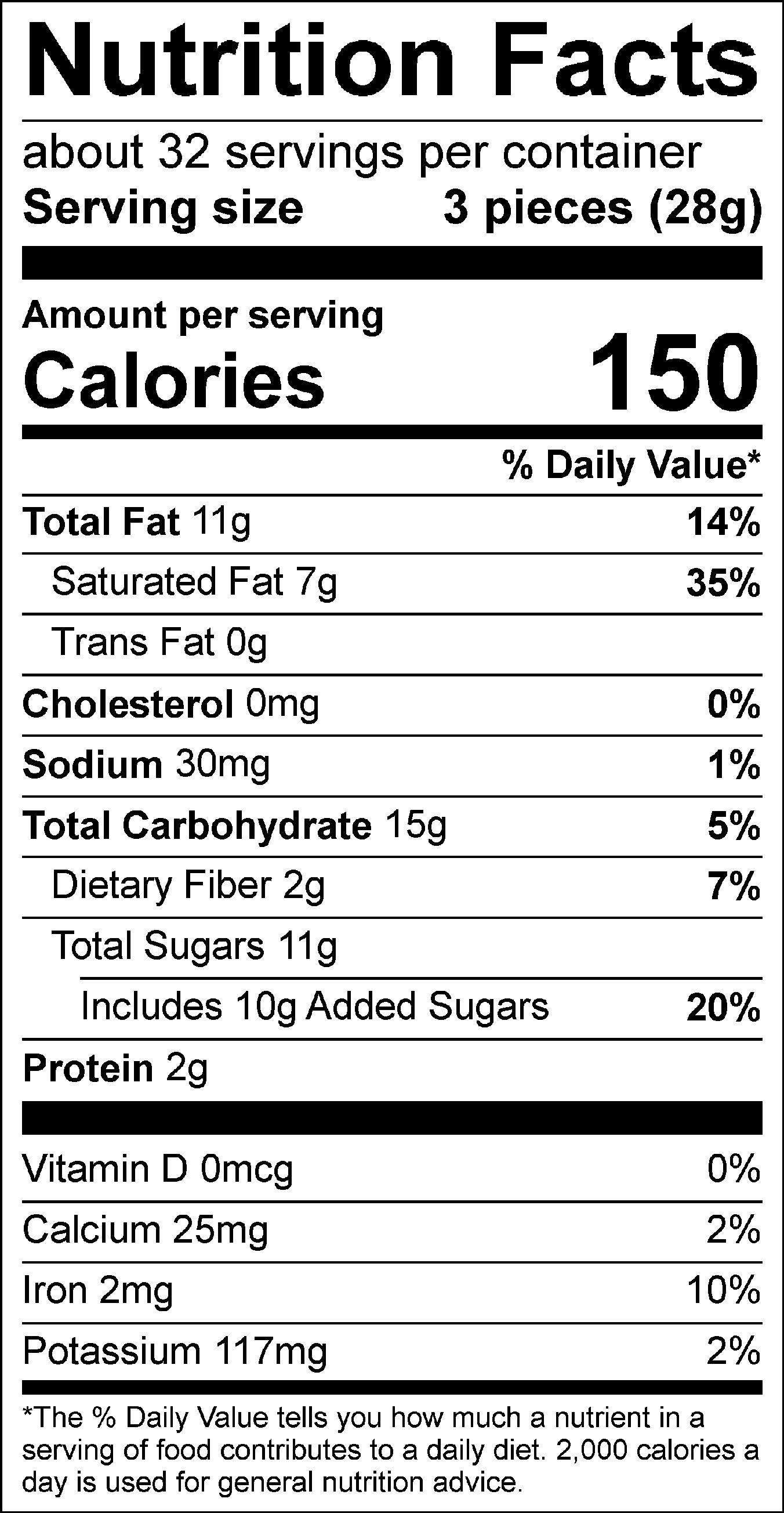 Assorted Truffles Nutrition Facts