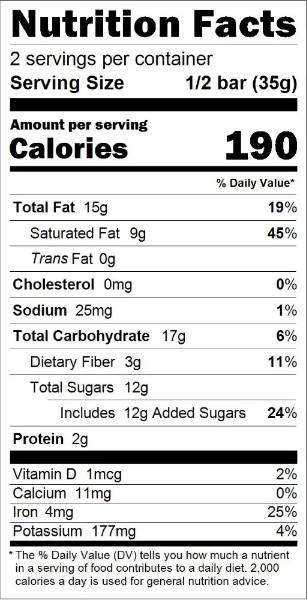 Holiday Spiced Nuts Nutrition Facts