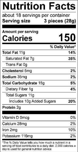 Color of Delicious Box Nutrition Facts