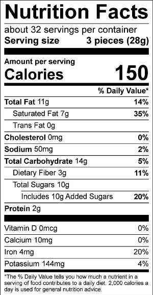Mexican Hot Chocolate Truffle Nutrition Facts
