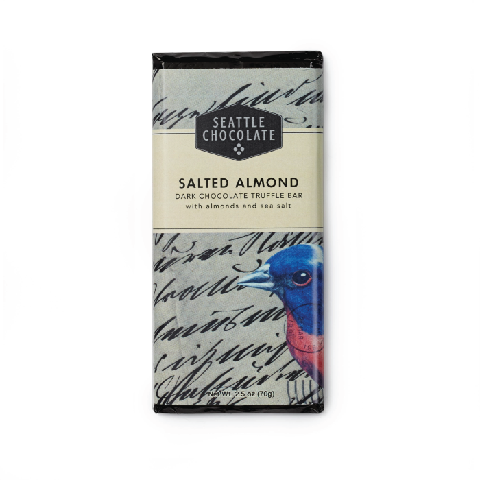 Salted Almond Dark Chocolate Truffle Bar by Seattle Chocolates