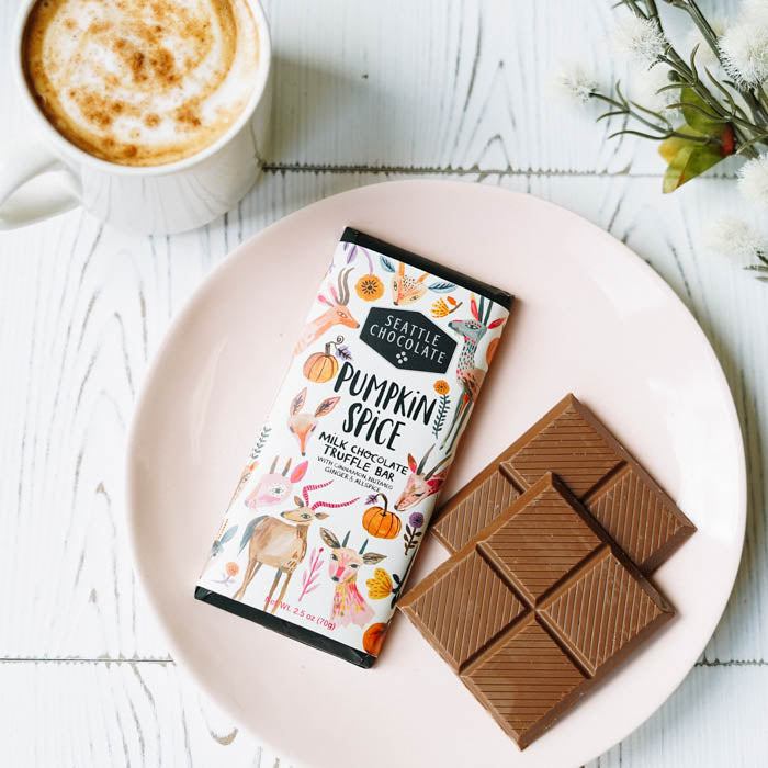 Seattle Chocolates Pumpkin Spice milk chocolate truffle bar