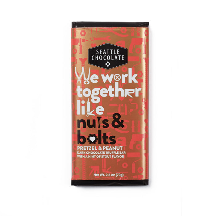 Seattle Chocolates We Work Together dark chocolate truffle bar