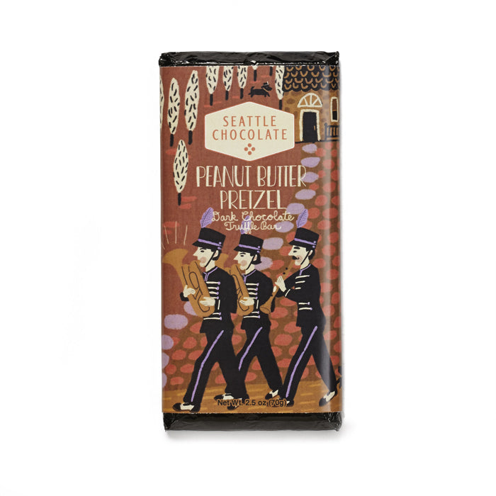 Seattle Chocolates Peanut Butter Pretzel chocolate truffle bar