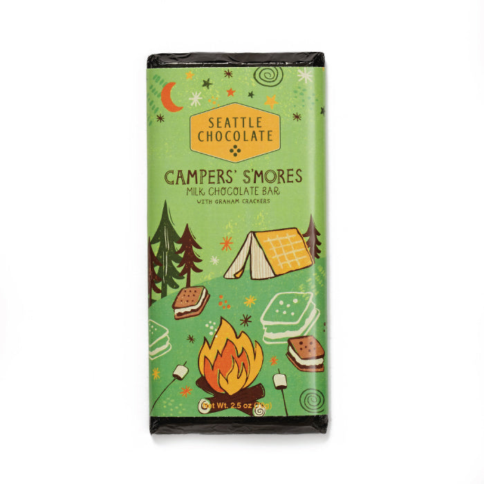 Seattle Chocolates milk chocolate Camper S'Mores truffle bar