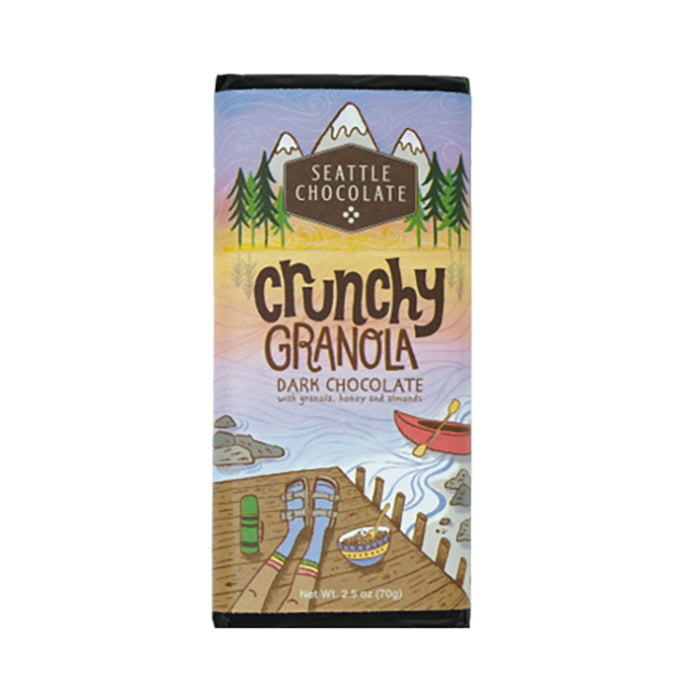 Seattle Chocolates dark chocolate Crunchy Granola truffle bar