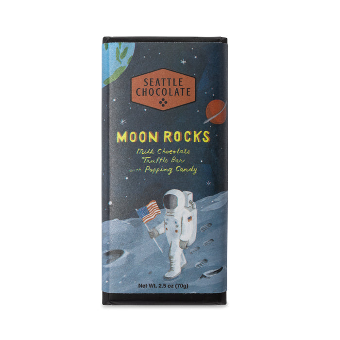 Seattle Chocolates Moon Rocks truffle bar.