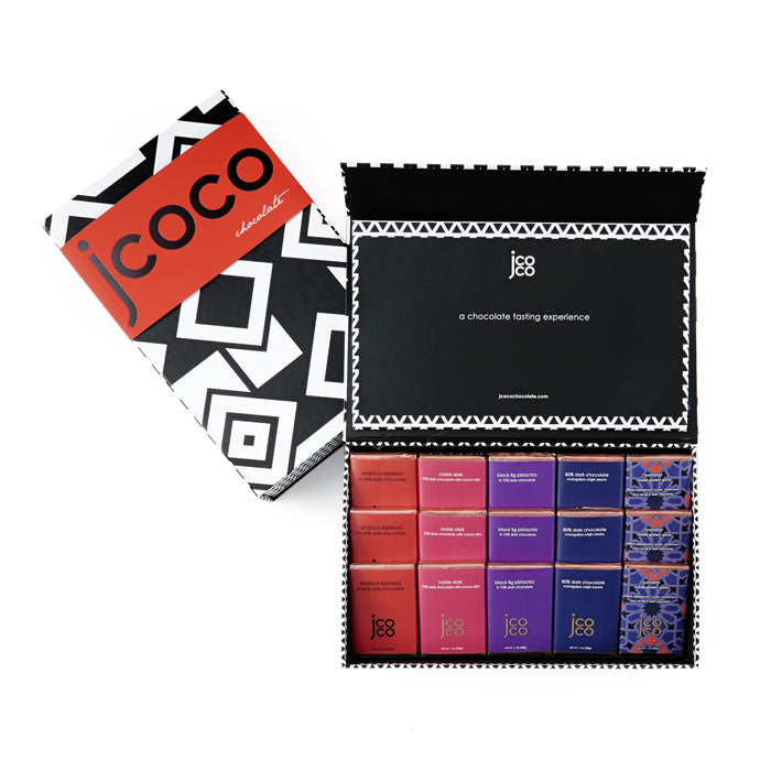 jcoco dark chocolate tasting experience gift box