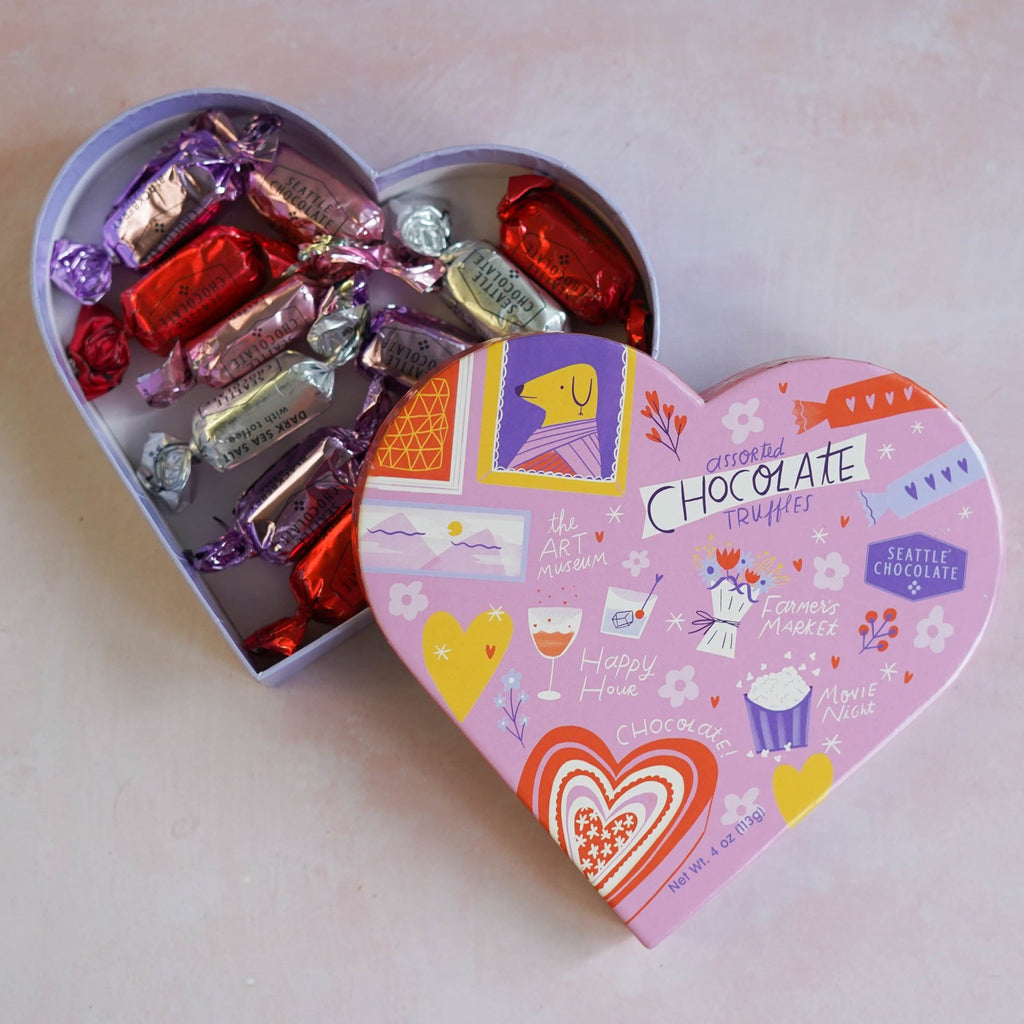 To Do With You Chocolate Truffles Heart Box (4 oz)