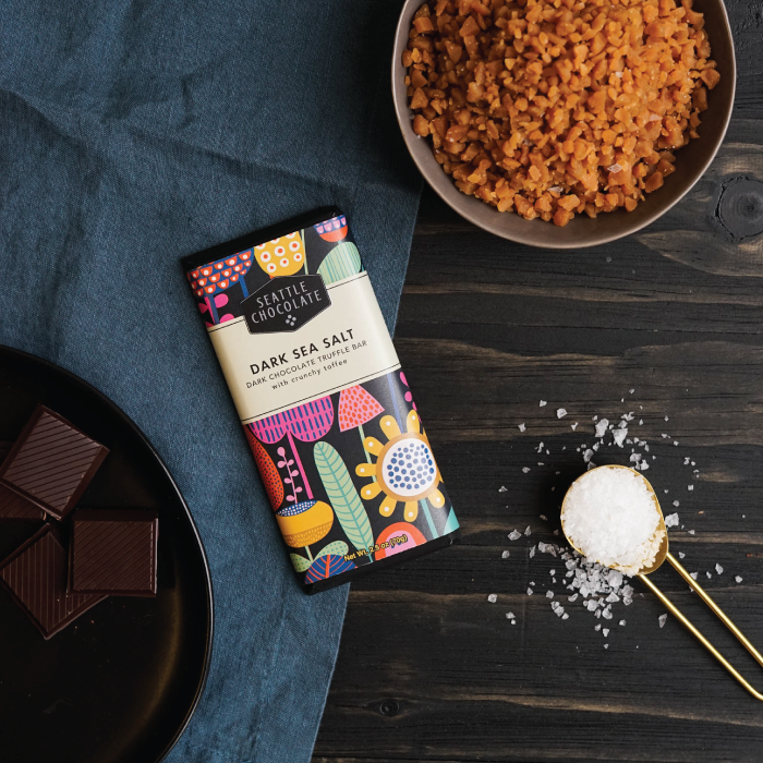 Dark Sea Salt Toffee Truffle Bar
