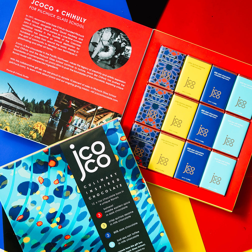 jcoco + CHIHULY Chocolate Gift Set