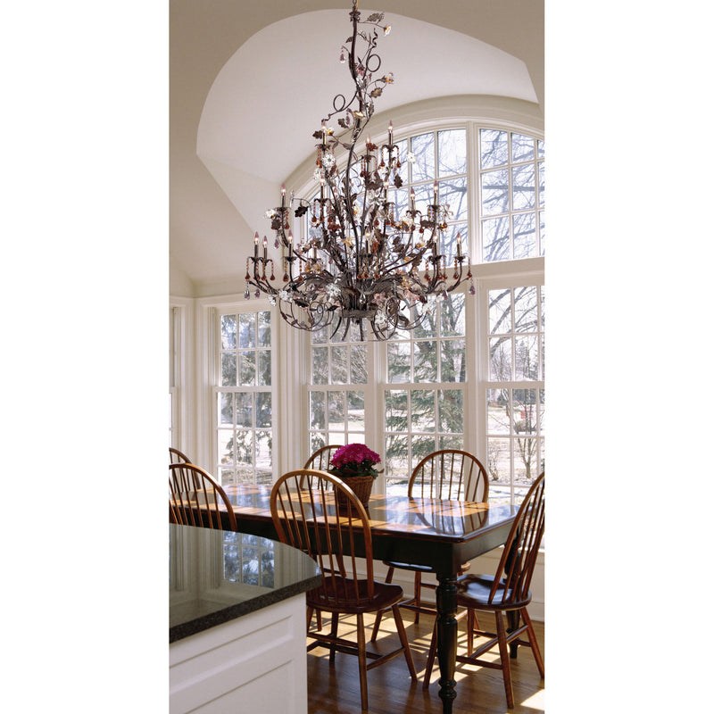 Elk Lighting 85004 Cristallo Fiore 18 Light Chandelier