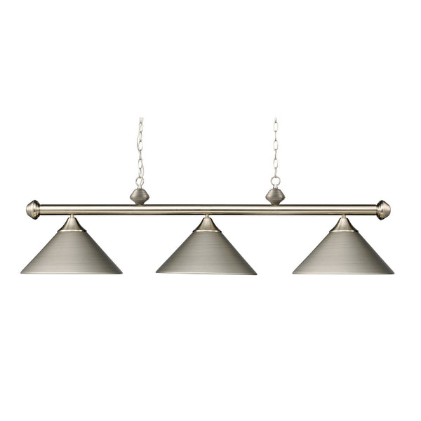 Elk Lighting 168-SN Casual Traditions Three Light Island Pendant
