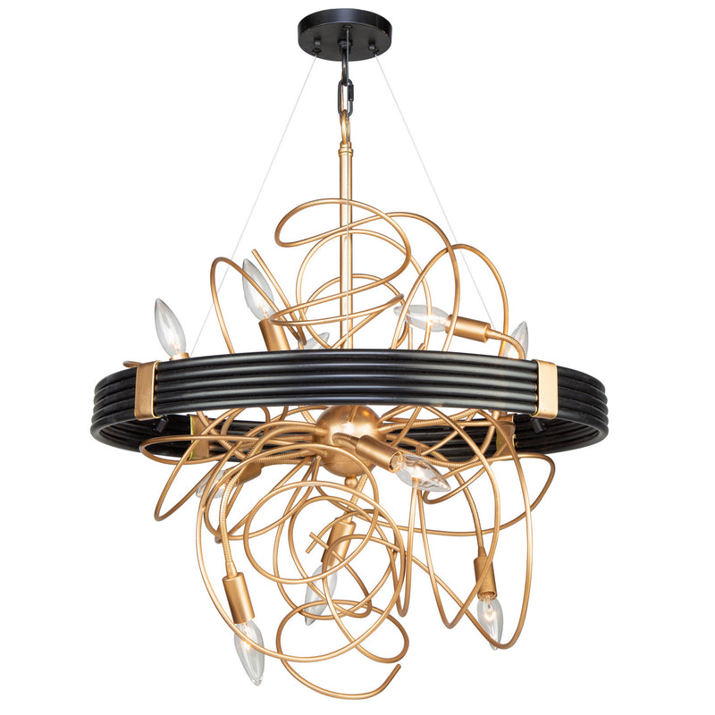 Artcraft AC11540VB Galaxy Ten Light Chandelier