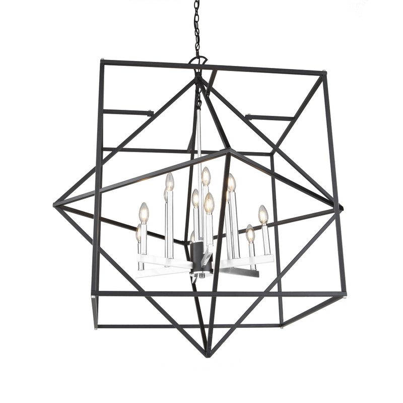 Artcraft AC11202PN Roxton 12 Light Chandelier